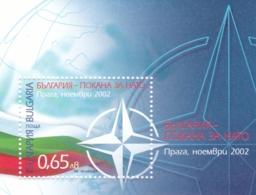 Bulgarien, 2002, 4580 Block 256,  MNH **, NATO-Gipfelkonferenz, Prag. - Hojas Bloque