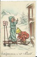 CARTE FANTAISIE - Illustration Germaine BOURET - Les Femmes , C'est Collant - Bouret, Germaine