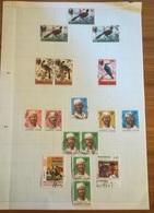 PAGINA PAGE ALBUM SIERRA LEONE 1980 BIRDS PRESIDENT  ATTACCATI PAGE WITH STAMPS COLLEZIONI LOTTO - Sierra Leone (1961-...)