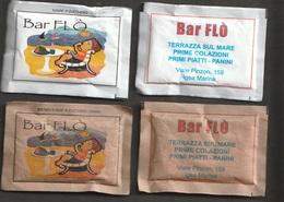2 Bustine Di Zucchero Da Collezione - Bar FLO' - Igea Marina (vedi Foto) - Zucchero (bustine)