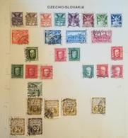 PAGINA PAGE ALBUM CECOSLOVACCHIA CZECHOSLOVAKIA 1920 COLOMBA  ATTACCATI PAGE WITH STAMPS COLLEZIONI LOTTO - Collezioni & Lotti