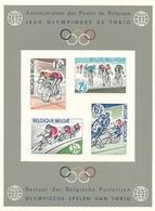 BELGIQUE BELGIUM LUXE SHEET COB LX41 OLYMPIC GAMES BICYCLE - Luxevelletjes