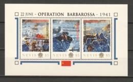 Nevis - MNH Sheet D2 WORLD WAR 2 - OPERATION BARBAROSSA - 2. Weltkrieg