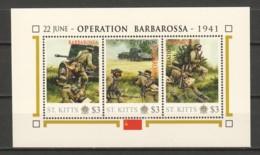 Nevis - MNH Sheet F2 WORLD WAR 2 - OPERATION BARBAROSSA - 2. Weltkrieg