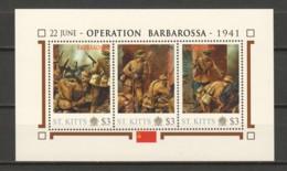 Nevis - MNH Sheet H2 WORLD WAR 2 - OPERATION BARBAROSSA - WW2