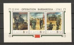 Nevis - MNH Sheet I2 WORLD WAR 2 - OPERATION BARBAROSSA - 2. Weltkrieg