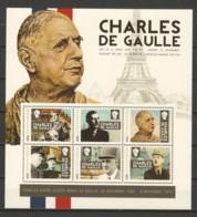 Togo MNH MNH Sheet B1 CHARLES DE GAULLE - De Gaulle (General)