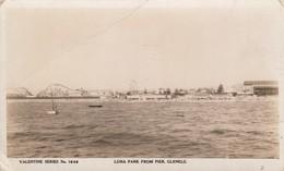 RP: GLENELG , Adelaide , South Australia , 30-40s ; Luna Park From Pier - Adelaide