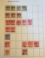 PAGINA PAGE ALBUM MALAYA MALESIA 1937 1945 KING GEORGE VI ATTACCATI PAGE WITH STAMPS COLLEZIONI LOTTO - Malesia (1964-...)