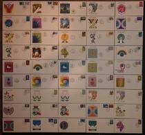 FDC Nations Unies - Premier Jour - Lot De 45 FDC - Thématique Divers - Timbres