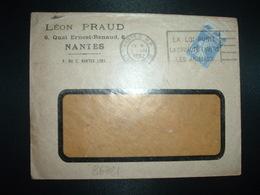LETTRE TP SEMEUSE 40c OBL.MEC.I VIII 1932 NANTES RP (44) LEON PRAUD - 1921-1960: Modern Period