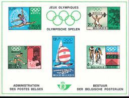 BELGIQUE BELGIUM LUXE SHEET COB LX55 SPORT OLYMPIC GAMES - Luxevelletjes