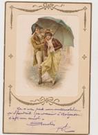 Carte Fantaisie / Couple Sous Un Parapluie - Paare