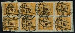 DT. REICH, NR. 327B, 8er BLOCK, GEST. MI. 24,- - Deutschland