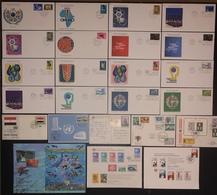 FDC Nations Unies - Premier Jour - Lot De 24 FDC - Thématique Divers - Timbres