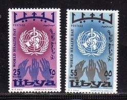 LIBYA LIBIA UNITED KINGDOM REGNO UNITO 1968 GIORNATA MONDIALE DELLA SANITÀ HEALTH WORLD DAY SERIE COMPLETA SET MNH - Libia