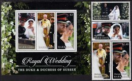 Barbados - 2018 - Royal Wedding Of Prince Harry And Meghan Markle - Mint Stamp Set + Souvenir Sheet - Barbados (1966-...)
