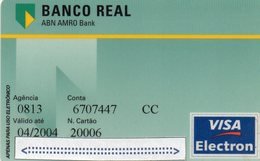 MEC.62 / BRASIL -  CREDIT CARD / BANCO REAL ABN AMRO BANK / VISA ELETRON - Cartes De Crédit (expiration Min. 10 Ans)