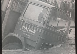 WETTEREN  -- FOTO 1973   +-  8 X 8  CM  ---   ONGEVAL VRACHTWAGEN - Wetteren