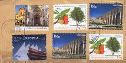 Portugal 6 V Used Archutecture Fruits Ships - Gebruikt