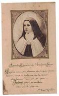 CELLULOÏD SAINTE THERESE DE L'ENFANT JESUS  IMAGE PIEUSE Holy Card Santini Prentje - Andachtsbilder