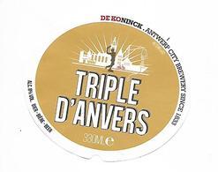 ETIQUETTE BIERE TRIPLE D'ANVERS / BR. DE KONINCK / ANVERS - Beer