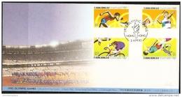 Hong Kong - 1992 Olympic Games FDC - Hong Kong (...-1997)