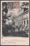 CPA - Réunion ST DENIS, Le Palais De Justice Un Jour D'Elections Législatives. - Réunion