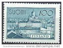 Finland 1942 100mk Schip En Gebouw Groenblauw PF-MNH-NEUF - Finland