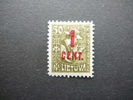Lietuva Litauen Lituanie Litouwen Lithuania # 1922 * MH # Mi. 147 - Litauen