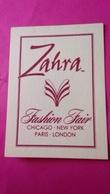 ZAHRA   FASHION FAIR - Perfume Cards