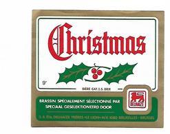 ETIQUETTE BIERE CHRISTMAS / BR. DELHAIZE FRERES / 1080 BRUXELLES - Beer