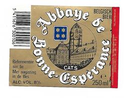 ETIQUETTE BIERE ABBAYE DE BONNE-ESPERANCE / BR. LA BINCHOISE / BINCHE - Beer