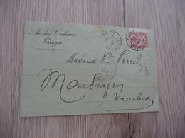 Carte Postale Repiquage Privé André Cabane Ganges - Advertising