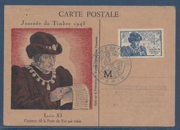 France Carte Maximum - Journée Du Timbre - Louis XI - 1946 - Maximum Cards