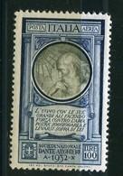 Regno D'Italia - Posta Aerea 1932 Pro Società Dante Alighieri 100 Lire MNH - 1900-44 Victor Emmanuel III.
