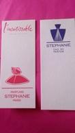 STEPHANIE  PARFUMS  2 Cartes - Cartes Parfumées