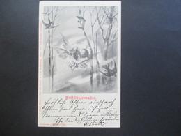 Österreich 1902 AK Frühlingserwachen Küssende Engel Collection Vlan Nr. 654 A. Sockl KuK Hofphotograph - Briefe U. Dokumente