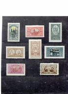 CENTRAL LITHUANIA (POLISH) 1921 - VILNIUS CATHEDRALS -UNION OF LUBLIN ETC.ETC - SERIES OF 8 STAMPS - 1-2-3-4-5-6-10-20 P - Litauen