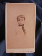 Photo CDV Crespon à Nimes - Portrait Jeune Garçon Tunique à La Russe, Circa 1890 L447A - Oud (voor 1900)