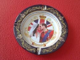 CENICERO ASHTRAY CENDRIER 2011 ROYAL WEDDING BODA REAL UK CATHERINE MIDDLETON KATE PRINCE WILLIAM UNITED KINGDOM VER FOT - Otros