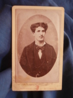 Photo CDV Franceschi à Marseille - Portrait Jeune Homme élégant En Médaillon Circa 1875 L447A - Fotos