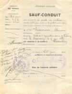 SAUF CONDUIT COMMUNE DE NANCY 1915 POUR ALLER A LIVERDUN CACHETS DES DEUX COMMUNES - 1914-18