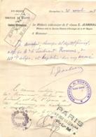 DOCUMENT PLM TRANSPORT POUR ALLER VOIR SOLDAT BLESSE HOPITAL DE MONTPELLIER 1915 - 1914-18