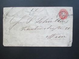 Österreich Um 1864 GA Umschlag Stempel K1 Iglau - Wien Vignette M. Glaser Glas & Spiegelhandlung Spitalgasse Iglau - Briefe U. Dokumente