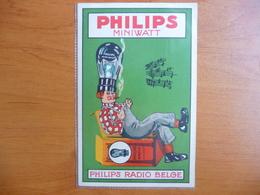 CPA - Philips Miniwatt Radio Belge - Publicité