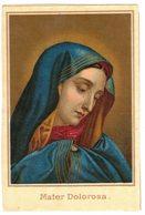 CHROMO PAPIER MATER DOLOROSA IMAGE PIEUSE Holy Card Santini Prentje - Devotion Images