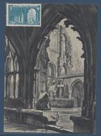 France Carte Maximum - Abbaye Saint Wandrille - 1949 - Cartes-Maximum