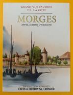 10731 - Morges  Suisse Château Et Barque Du Léman - Etiquettes