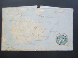 Österreich 1862 Nr. 15 EF Stempel Hernals Und 3 Weitere Stempel!! Haag Ober Österreich Usw. Mit Inhalt! - Briefe U. Dokumente